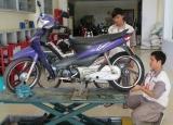 Bảo trì , thay bánh xe tubless - không ruột , trước khi rời Việt Nam