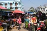 Một trong những ngôi chợ ở Myawaddy - Myanmar