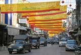 Đường phố ở thành phố biên giới Mae Sod