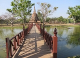 Sukhothai , trong khu phố cổ