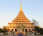 Wat Nong Wang , hình kim tự tháp , biểu tượng của Khon Kaen .
