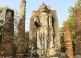 Wat Saphan Hin , ngoại ô Sukhothai - Thái Lan .
