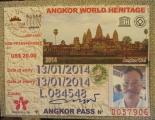 Thẻ để đi thăm tất cả các phế tích ở Angkor Wat , Angkor Thom , Ta Prohm . . . .