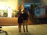 Capt. Lisa M.Franchetty và MC trong đêm Văn nghệ