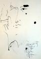 Chân dung Đinh Cường  (ký họa trên giấy - 1985)