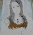Chân dung Phạm Linh Đan (sơn dầu trên bố - 1998)